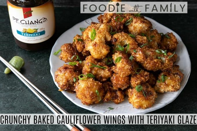 These incredible and incredibly simple, crunchy, baked Cauliflower Wings are sublimely sticky courtesy of the flavourful ginger and garlic teriyaki glaze.