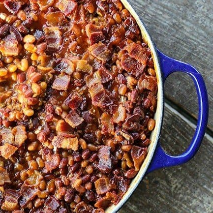Barbecue Bacon Spicy Baked Beans