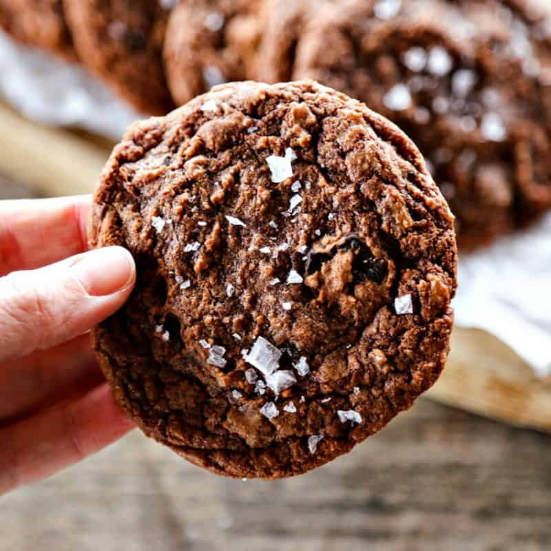 Easy Double Chocolate Nutella Cookies