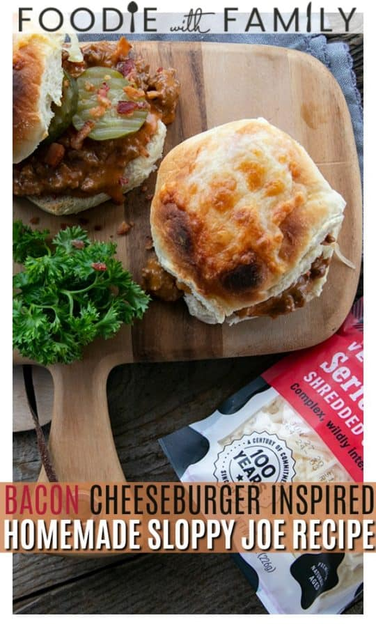 rich tomato gravy that has loads of incredible melted Cabot cheese and crispy chopped bacon in it on a toasted bun with tangy dill pickles. They taste just like bacon cheeseburgers with a super high comfort food factor thrown in for good measure.