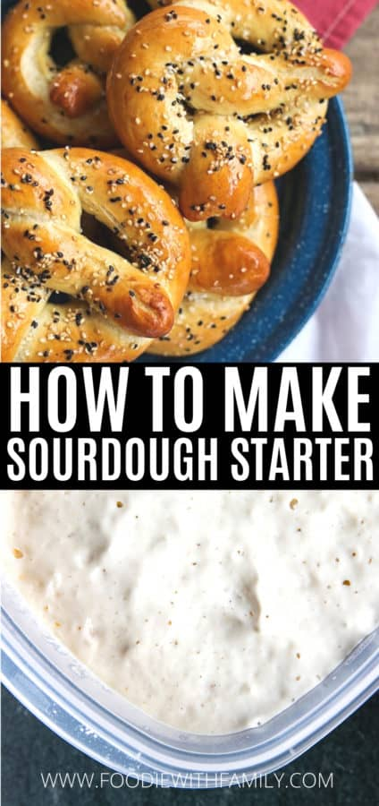 How to make sourdough starter using just flour and water and time.