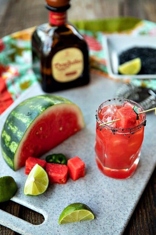 Pretty pink Watermelon Margaritas are refreshing, thirst quenching, lightly sweet cocktails for any time you need to cool down and chill out.