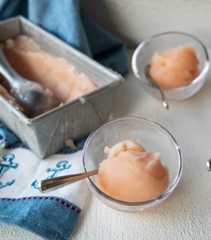 52a3a215 Crisp, refreshing, smooth and silky in texture, this grapefruit sorbet  makes a great