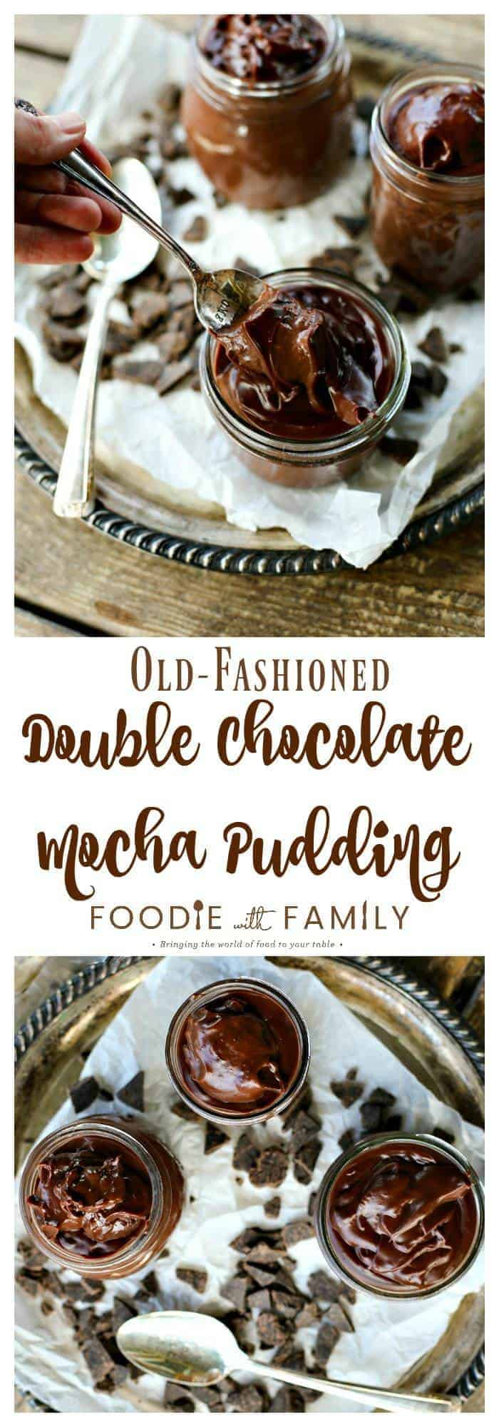 Old Fashioned Double Chocolate Mocha Pudding. Smooth, creamy, rich, and ultra-easy.