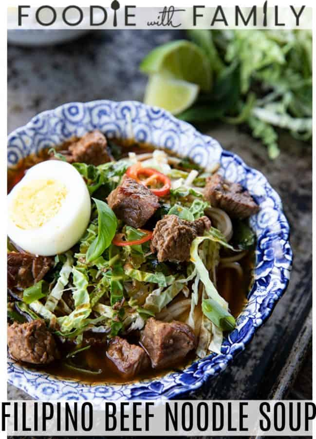 Filipino Beef Noodle Soup Pares Mami