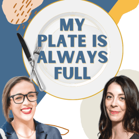 Meseidy and Rebecca from My Plate Is Always Full with logo