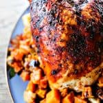 1-Pot Roast Turkey Breast Dinner with Sweet Potatoes and Cranberry Dry Rub