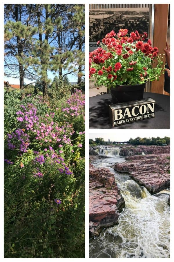Sioux Falls, South Dakota and the waterfront.