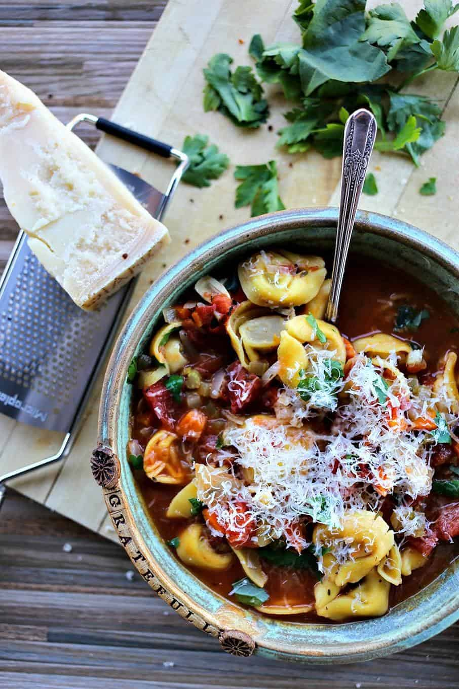 Tortellini vegetable soup foodie with family forumfinder Choice Image