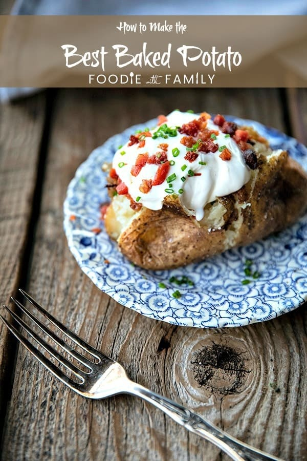 The Best Baked Potato is a thing of beauty. Our foolproof, best way to bake a potato yields a crisp, salty skin with fluffy insides every single time.